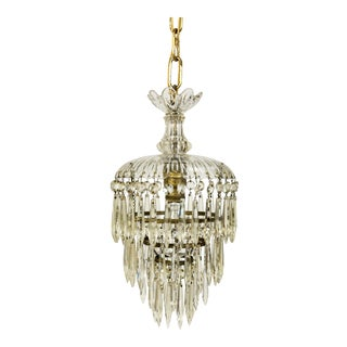 1910s Art Nouveau Waterfall Crystal Pendant For Sale