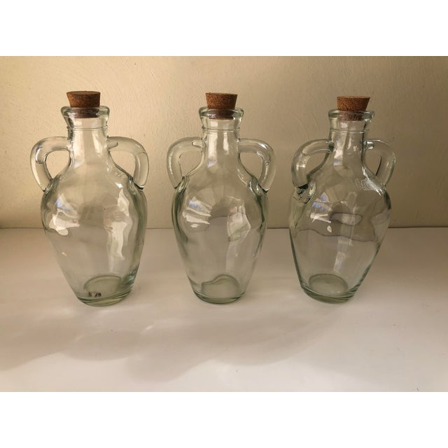 Wicker Wrapped Demijohn Bottles - Set of 3 For Sale - Image 11 of 13