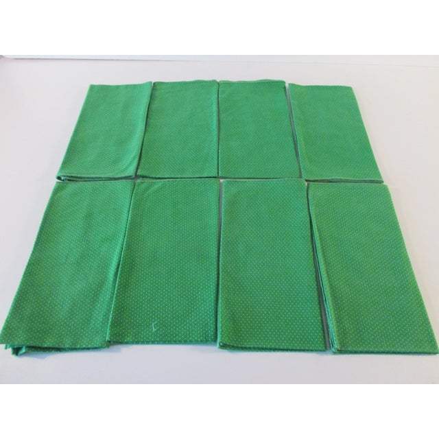 Late 20th Century Set of Eight (8) Vintage Dinner Cotton Blend Napkins For Sale - Image 5 of 5