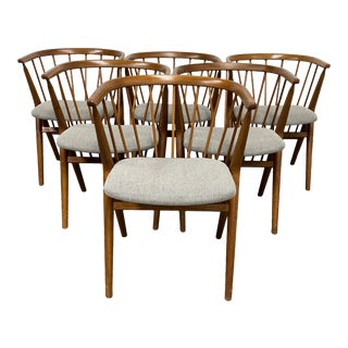 Mid 20th Century Helge Sibast No8 Chairs - Set of 6 For Sale