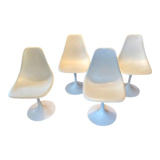 1960s Vintage Burke Swivel Tulip Chairs - Set of 4 For Sale