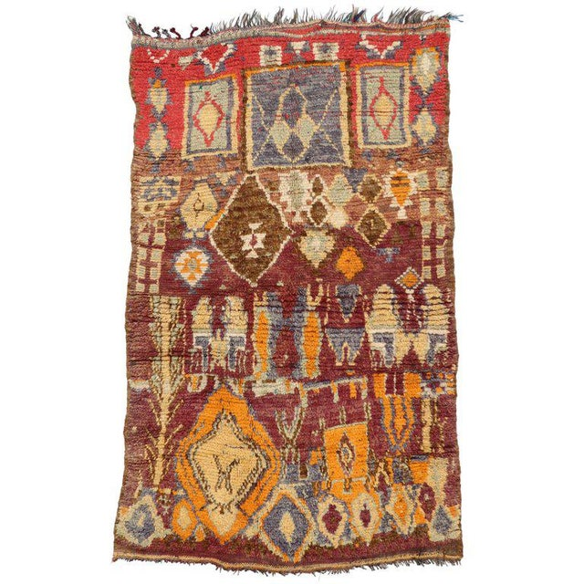 Vintage Berber Moroccan Rug with Modern Tribal Style For Sale - Image 5 of 5