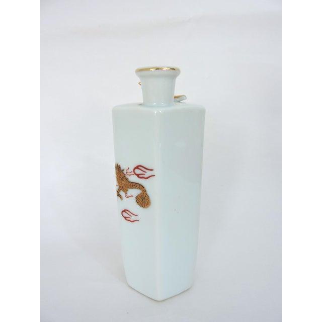 Japanese Gold Dragon 'Whistling' Porcelain Sake Flask/Decanter For Sale - Image 4 of 9