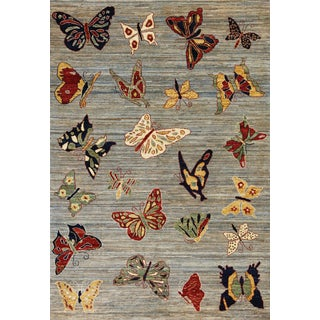 21st Century Vintage Kaleidoscope Rug- 4′10″ × 6′11″ For Sale
