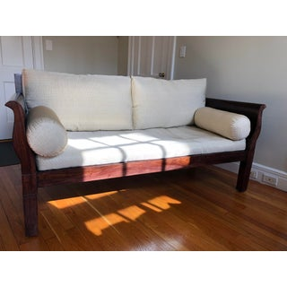 British Colonial Style Sheesham Wood Two Seater Sofa Preview