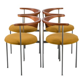 Frederik Sieck for Fritz Hansen Danish Modern Model 3200 Chairs - Set of 4