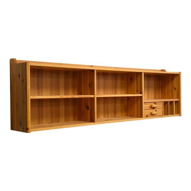 Idé Møbler Solid Pine Hanging Bookshelf Cabinet Mid Century Modern For Sale