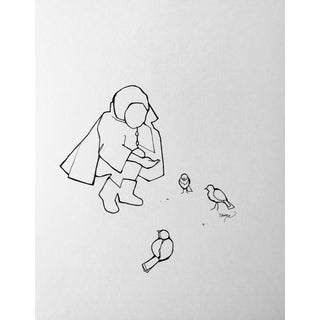 Minimalist Drawing, The Caretaker For Sale