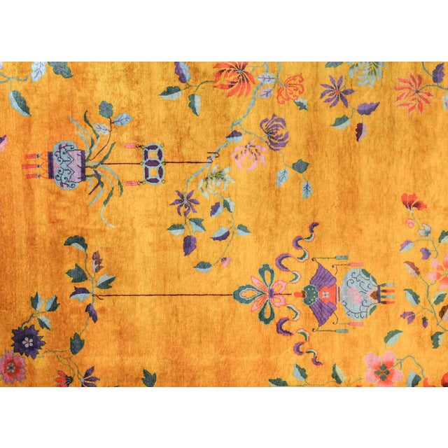 Textile Vivid Early 20th Century Chinese Art Deco Rug For Sale - Image 7 of 12
