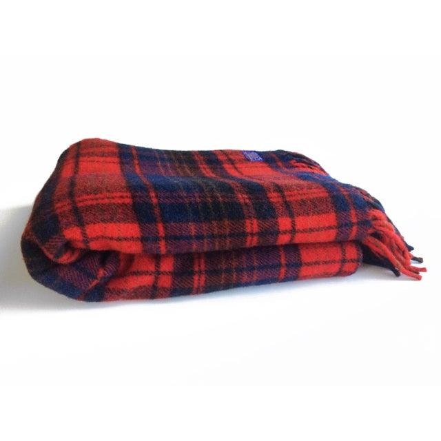Pendleton Woolen Mills Vintage Pendleton Woolen Mills Throw Blanket For Sale - Image 4 of 5