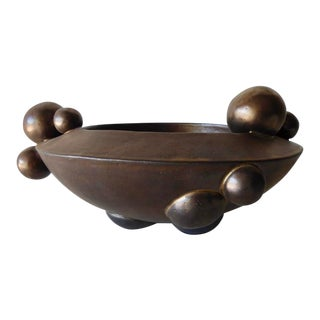 "Luster-Glazed ""Sphere"" Bowl by Contemporary American Artist Titia Estes For Sale"