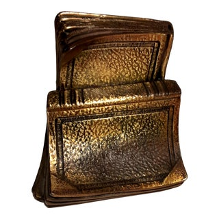 Vintage Philadelphia Manufacturing Co. Brass Cast Metal Bookend For Sale