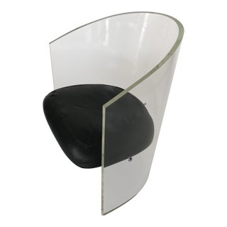 1970s Vladimir Kagan Lucite Barrel Chair