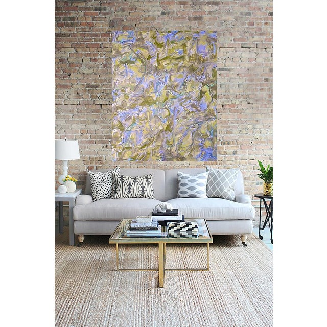 """""""Misty Morning"""" Large Abstract Painting by Trixie Pitts - Image 2 of 4"""