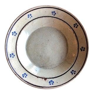 Italian Antique Ceramic Bowl- Puglia, Italy For Sale