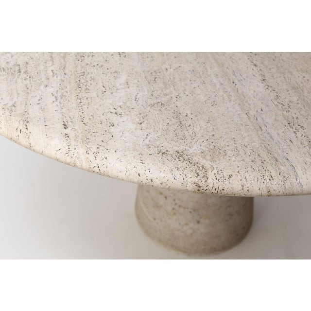 Angelo Mangiarotti Round Travertine Table Attributed to Angelo Mangiarotti For Sale - Image 4 of 12