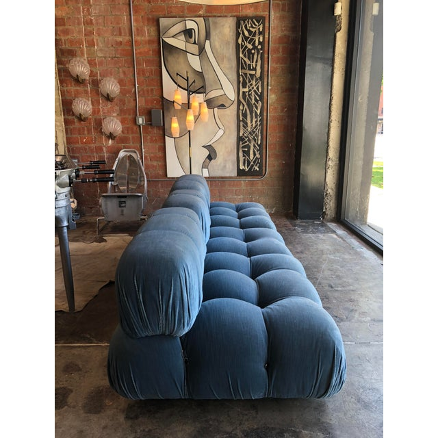 B&B Italia Mario Bellini Light Blu Original Fabric 'Camaleonda' Modular Sofa For Sale - Image 4 of 10