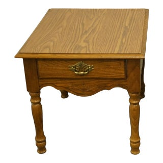 """Broyhill Furniture Oak Country French 21x27"""" Accent End Table For Sale"""