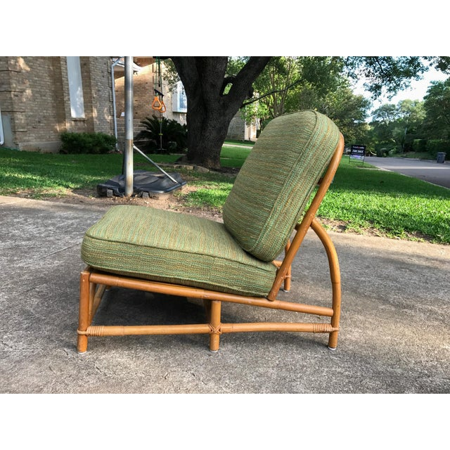 Vintage Ficks Reed Bamboo Lounge Chairs A Pair on Vintage Ficks Reed Rattan Furniture