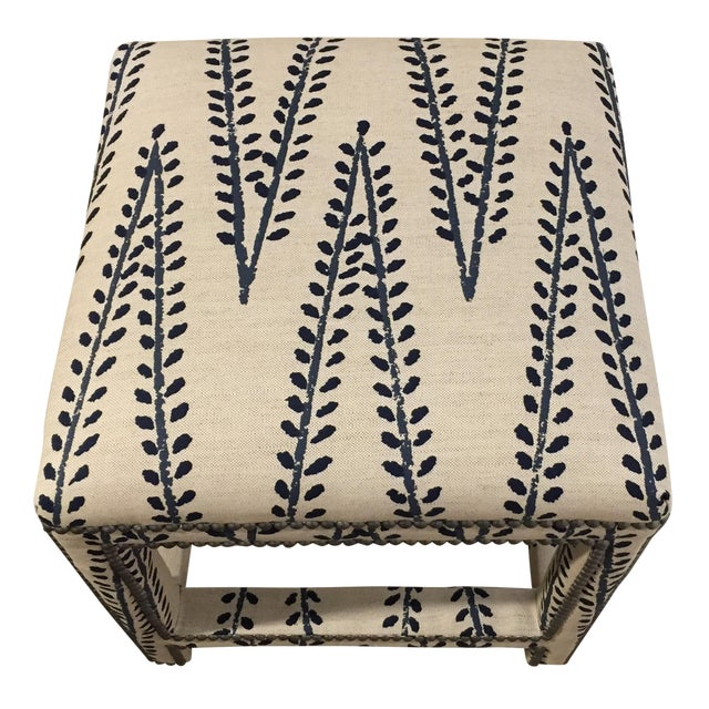 Custom Upholstered Lee Ottoman - Image 1 of 6