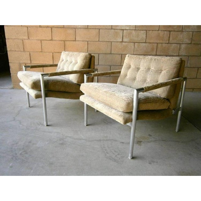 1960s Aluminum Club Chairs - A Pair - Image 5 of 7