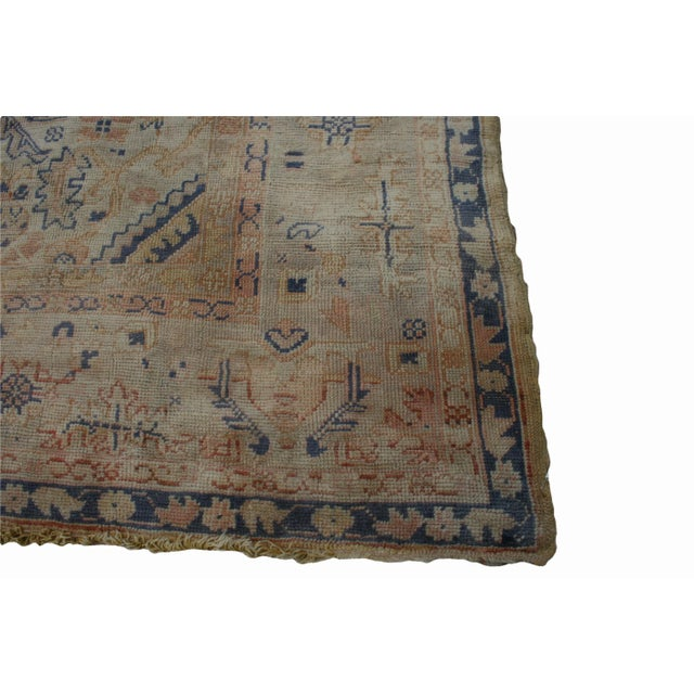 Textile Semi-Antique Turkish Oushak Rug - 10′ × 13′3″ For Sale - Image 7 of 13