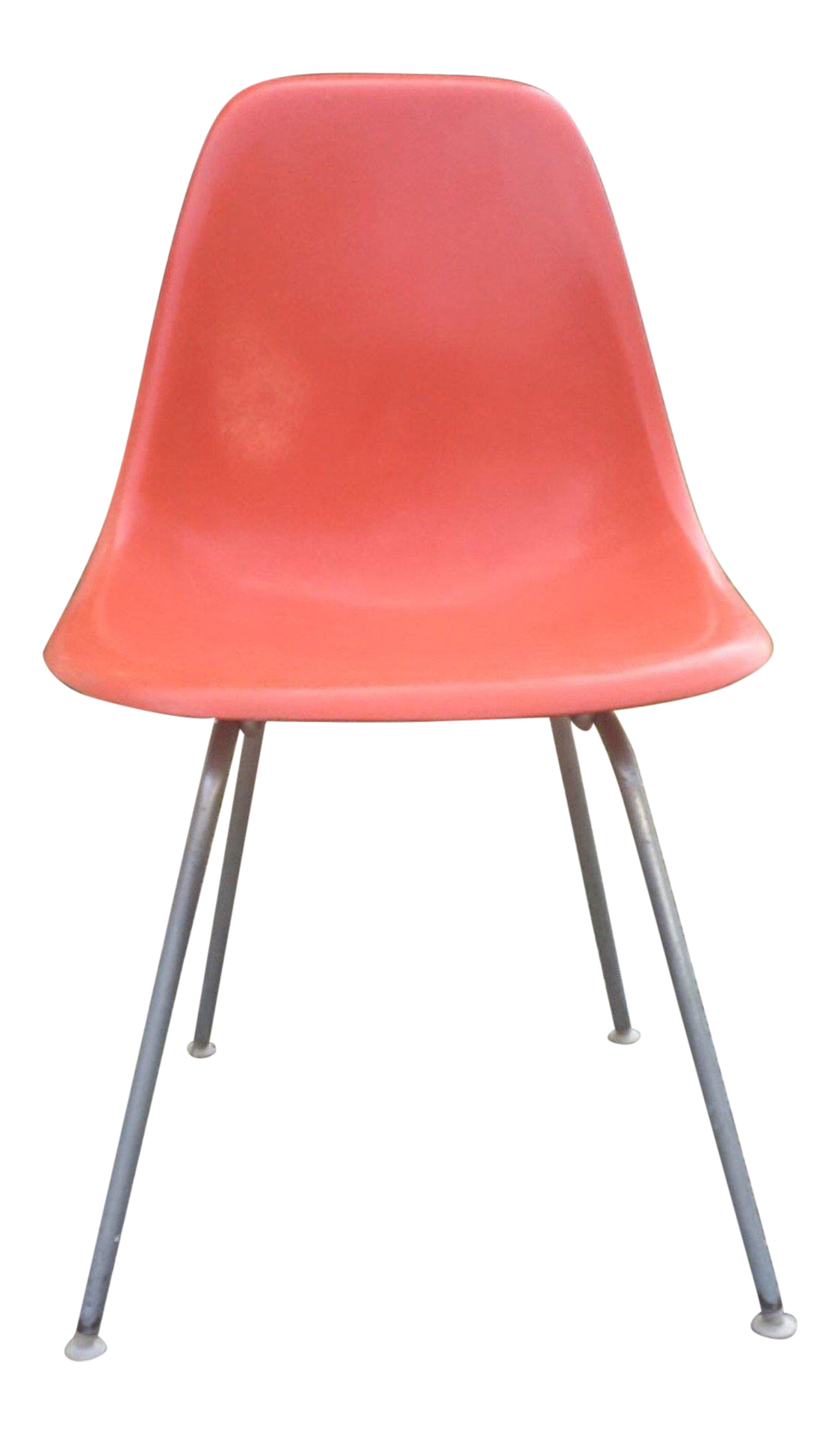 vintage herman miller office chairs leather 1960s vintage eames for herman miller dsx orange shell chair used office chairs chairish