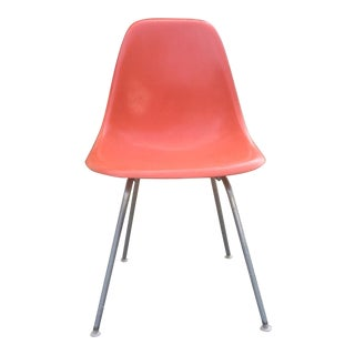 1960s Vintage Eames for Herman Miller Dsx Orange Shell Chair For Sale
