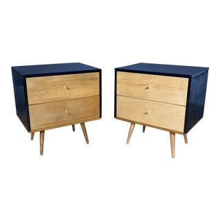 1950s Paul McCobb Maple Nightstands, Planner Group - a Pair For Sale