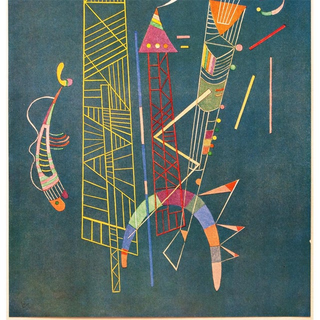 1947 Wassily Kandinsky, Construction Legere Parisian Plate For Sale - Image 4 of 10
