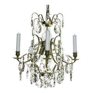 Baroque Crystal Chandelier For Sale
