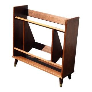 Vintage Mid Century Danish Modern Bookcase w Peg Legs For Sale