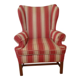 Late 20th Century Vintage English Wingback Chair For Sale