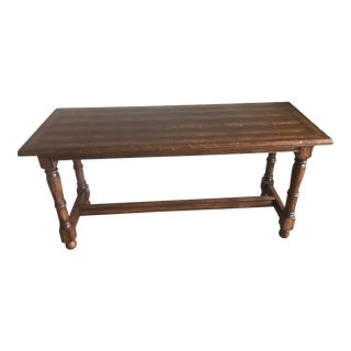 Bausman and Company Dark Wood Entry Table For Sale