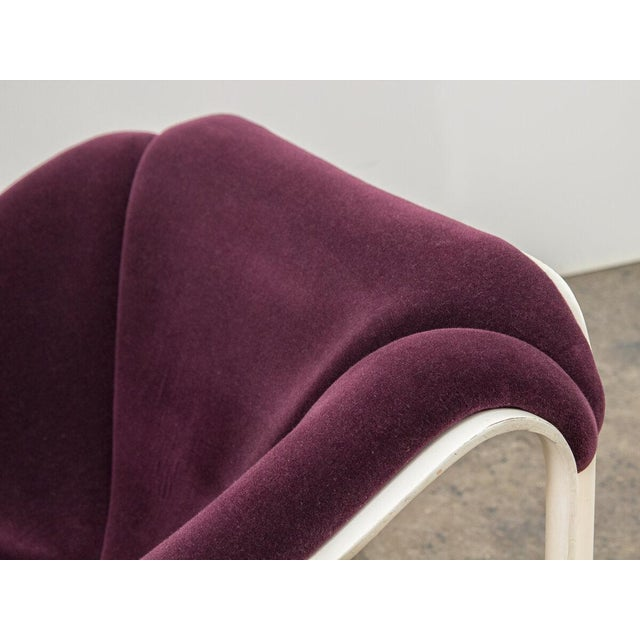 Violet Pierre Paulin F300 Lounge Chair For Sale - Image 8 of 11