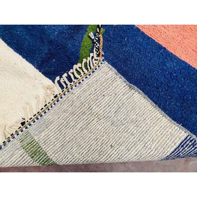 Textile 1980s Moroccan Beni Ourain Rug-7′3″ × 10′6″ For Sale - Image 7 of 9
