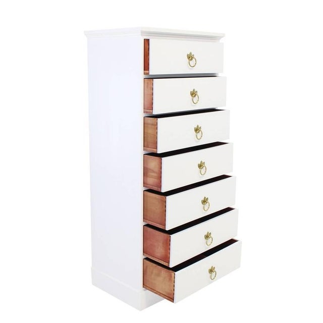Gold Tall Seven Drawer Lingerie Chest by Grosfeld House For Sale - Image 8 of 8