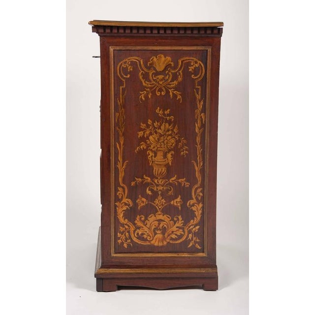 Baroque Italian Baroque Walnut and Gilded Commodini For Sale - Image 3 of 10