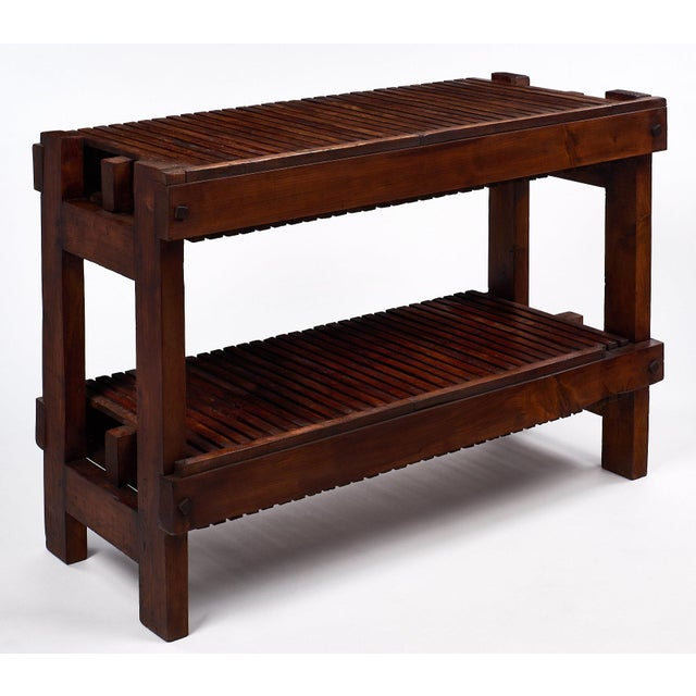 Adirondack French Antique Fig Drying Console Table For Sale - Image 3 of 11