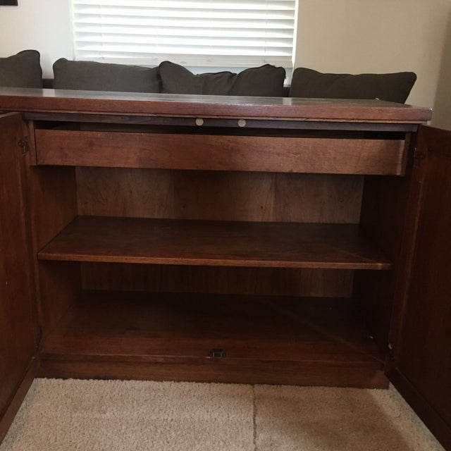 Founders Style Mid-Century Cane & Walnut Buffet For Sale In Cincinnati - Image 6 of 11