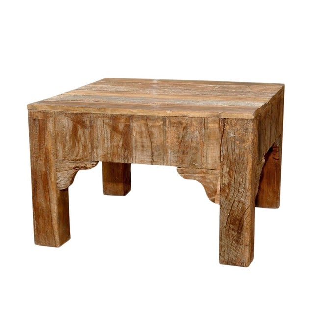 Reclaimed square coffee table chairish for Buy reclaimed wood los angeles