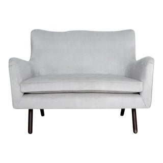Wondrous Carlos Perazzi Hanna Gray Loveseat Chairish Pabps2019 Chair Design Images Pabps2019Com