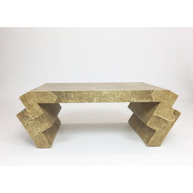 Vintage Goatskin Coffee Table in the Style of Karl Springer - Image 2 of 9