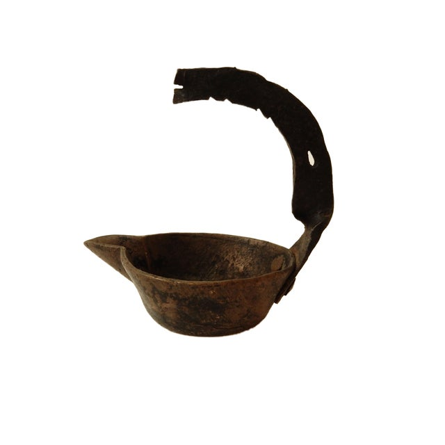 Antique Roman Bronze Oil Lamp For Sale - Image 5 of 5