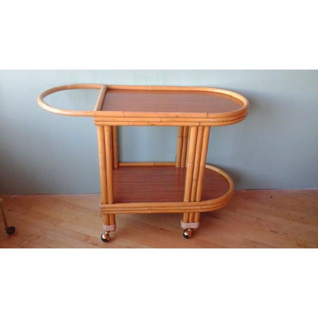 Vintage Ritts Tropitan Tiki Rattan Bamboo Bar Cart - Image 2 of 10