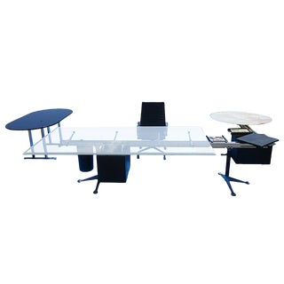 U-Shape Burdick Desk for Herman Miller With Floating Table For Sale