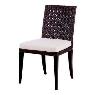 Century Furniture Litchfield Side Chair, Mink Grey For Sale