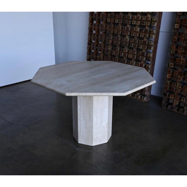 Octagonal Travertine Centre Table, circa 1975