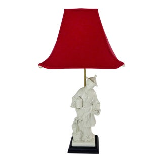 Vintage used asian table lamps chairish vintage female figural blanc de chine table lamp mozeypictures Choice Image