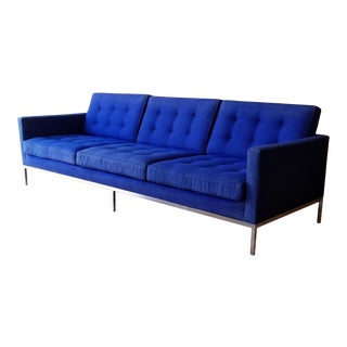 1960s Florence Knoll Three Seater Sofa W/ Original Fabric For Sale